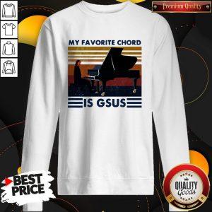 Official My Favorite Chord Is Gsus VintaOfficial My Favorite Chord Is Gsus Vintage Sweatshirtge Sweatshirt