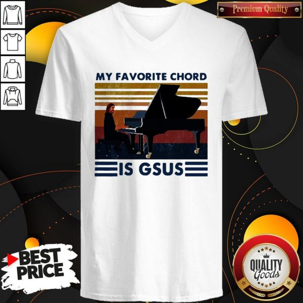 Official My Favorite Chord Is Gsus VintaOfficial My Favorite Chord Is Gsus Vintage V-neckge V-neck