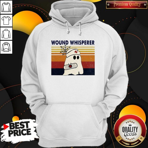 Official Nurse Ghost Wound Whisperer Vintage Hoodie
