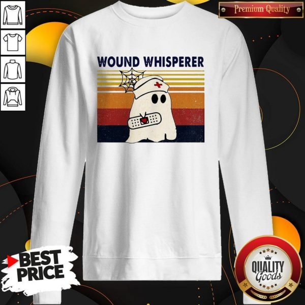 Official Nurse Ghost Wound Whisperer VinOfficial Nurse Ghost Wound Whisperer Vintage Sweatshirttage SweatshirtOfficial Nurse Ghost Wound Whisperer Vintage Sweatshirt