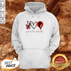 Peace Love Lucifer Diamond Hoodie