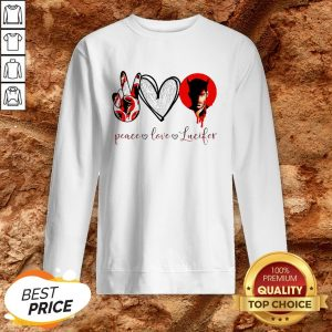 Peace Love Lucifer Diamond Sweatshirt