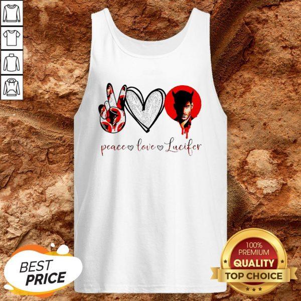 Peace Love Lucifer Diamond Tank Top