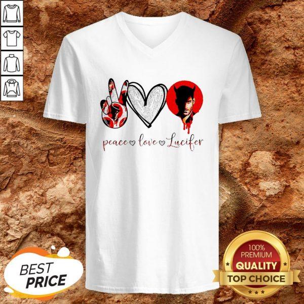 Peace Love Lucifer Diamond V-neck