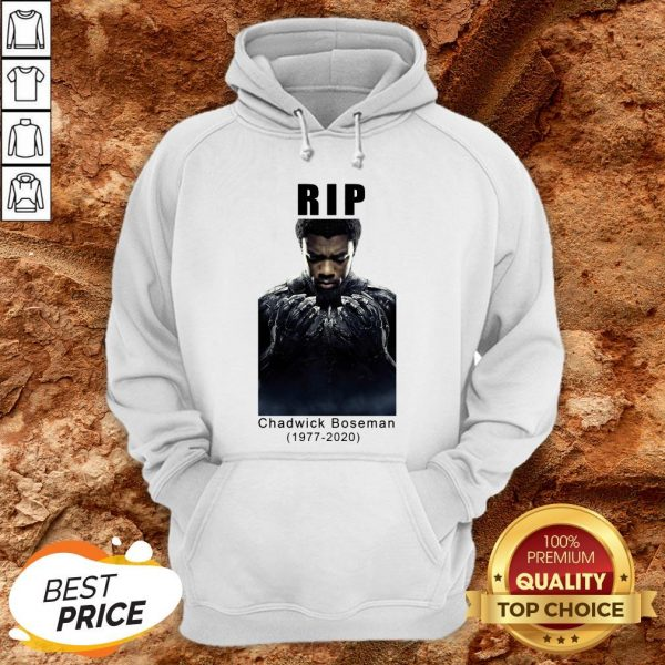 Rip Chadwick Boseman 1977-2020 Black Panther Hoodie