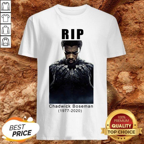 Rip Chadwick Boseman 1977-2020 Black Panther Shirt