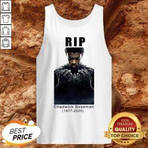 Rip Chadwick Boseman 1977-2020 Black Panther Tank Top