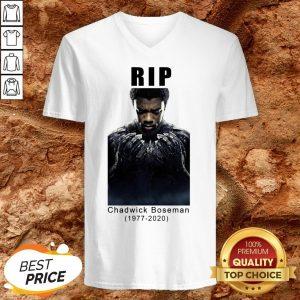 Rip Chadwick Boseman 1977-2020 Black Panther V-neck