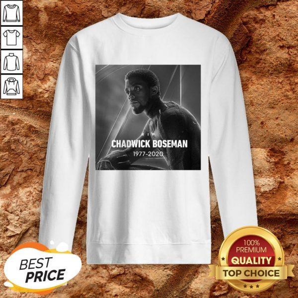 Rip Chadwick Boseman Black Panther 1977 For The Memories Signature Sweatshirt