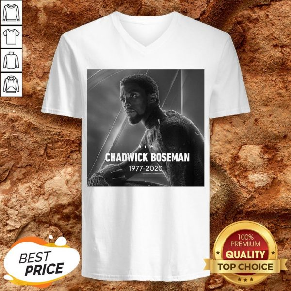 Rip Chadwick Boseman Black Panther 1977 For The Memories Signature V-neck
