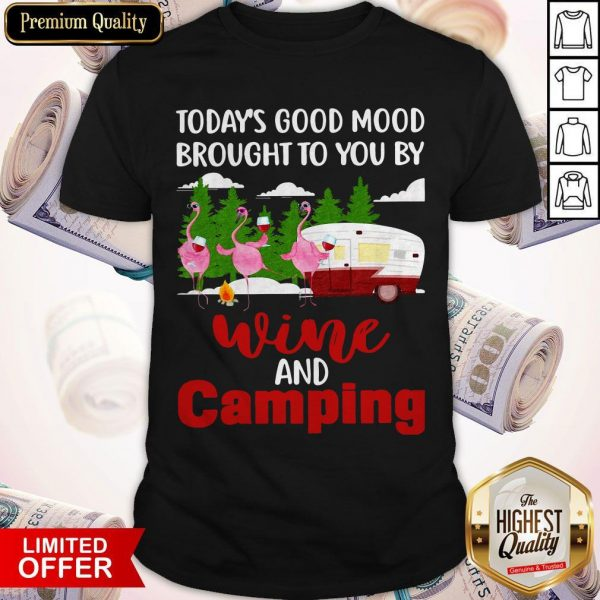 Today's Good Mood Brought To You And Camping Shirt
