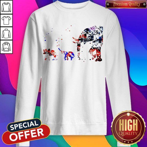 Top Baby Elephant Mother Sweatshirt