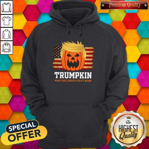 Trumpkin Make Halloween Great Again American Flag HoodieTrumpkin Make Halloween Great Again American Flag Hoodie