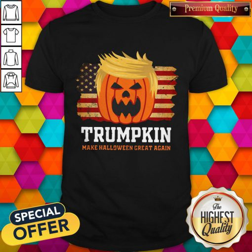 Trumpkin Make Halloween Great Again American Flag ShirtTrumpkin Make Halloween Great Again American Flag Shirt