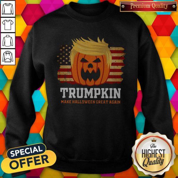 Trumpkin Make Halloween Great Again AmerTrumpkin Make Halloween Great Again American Flag Sweatshirtican Flag SweatshirtTrumpkin Make Halloween Great Again American Flag Sweatshirt