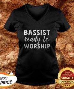 Bassist Reading To Worship V-neck