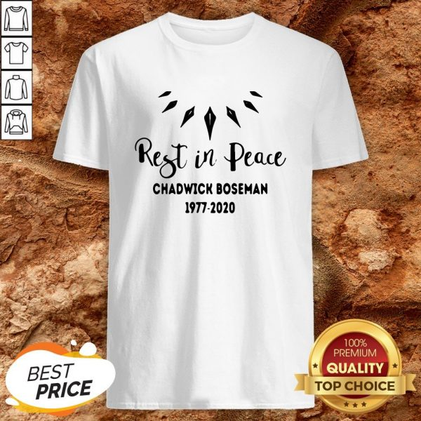 Black Panther Rest In Peace Rip Chadwick 1977 2020 Shirt
