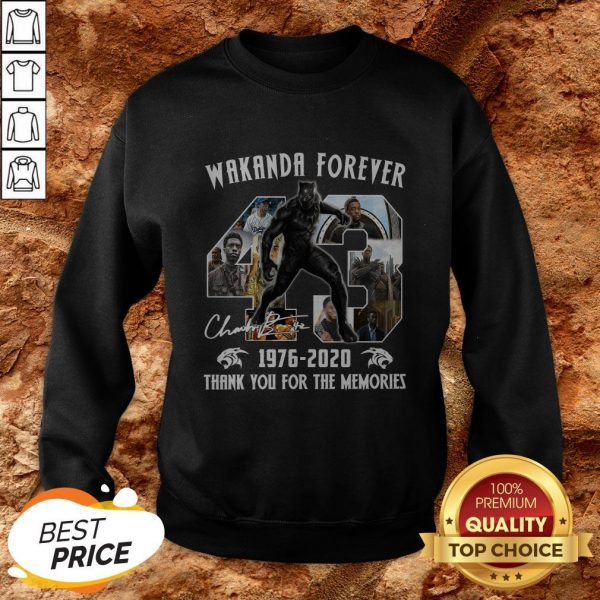Black Panther Wakanda Forever Thank You For The Memories SweatshirtBlack Panther Wakanda Forever Thank You For The Memories Sweatshirt
