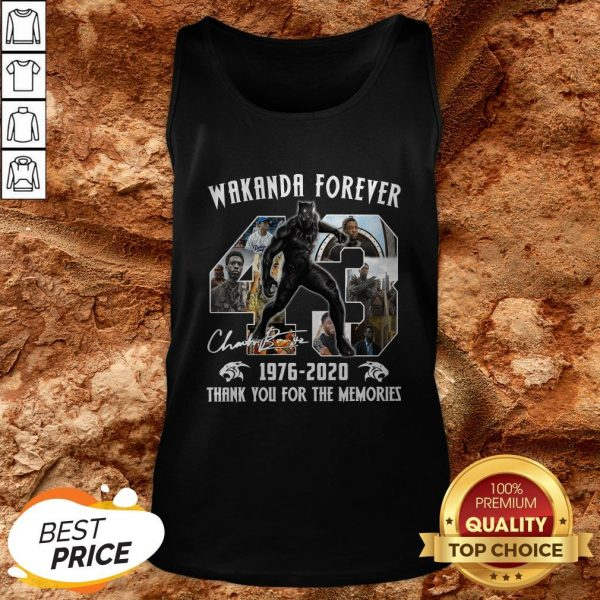 Black Panther Wakanda Forever Thank You For The Memories Tank Top