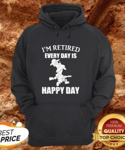 Cartoon I'm Retired Every Hour Is Happy Hour HoodieCartoon I'm Retired Every Hour Is Happy Hour Hoodie