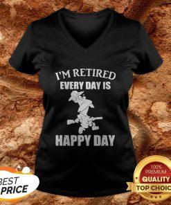 Cartoon I'm Retired Every Hour Is Happy Hour V-neckCartoon I'm Retired Every Hour Is Happy Hour V-neck