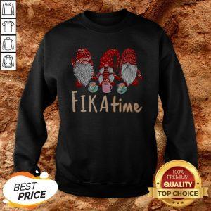 Christmas Gnomes Coffee Fika Time Sweatshirt