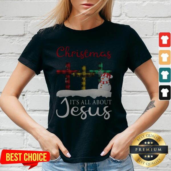 Christmas It's All About Jesus V-neck