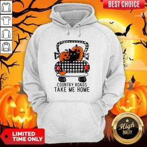 Country Roads Take Me Home Pumpkin Cat Halloween Hoodie
