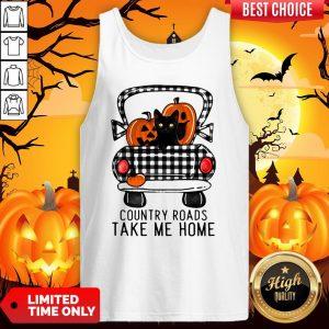 Country Roads Take Me Home Pumpkin Cat Halloween Tank TopCountry Roads Take Me Home Pumpkin Cat Halloween Tank Top