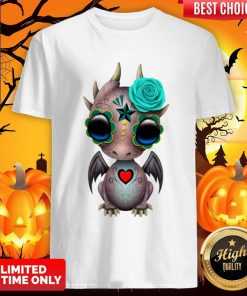 Day Of The Dead Sugar Skull Baby Dragon Halloween ShiDay Of The Dead Sugar Skull Baby Dragon Halloween Shirtrt