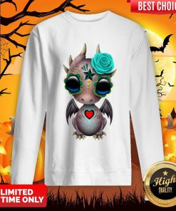 Day Of The Dead Sugar Skull Baby Dragon Halloween Sweatshirt