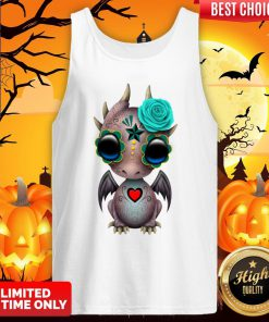 Day Of The Dead Sugar Skull Baby Dragon Halloween Tank Top