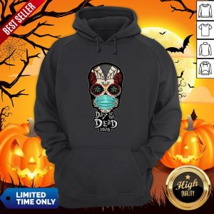 Day Of The Dead Sugar Skull Face Mask Halloween Hoodie