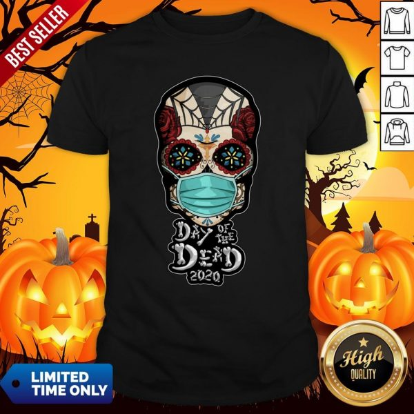 Day Of The Dead Sugar Skull Face Mask Halloween ShirtDay Of The Dead Sugar Skull Face Mask Halloween Shirt