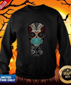 Day Of The Dead Sugar Skull Face Mask Halloween Sweatshirt