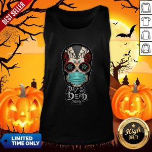 Day Of The Dead Sugar Skull Face Mask Halloween Tank Top