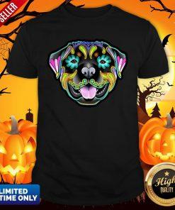 Day Of The Dead Sugar Skull Rottweiler Dog Shirt