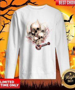 Faded Youth Smoke Skulls Day Of The Dead Sweatshirt