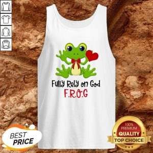 Frog Heart Fully Rely On God Tank Top