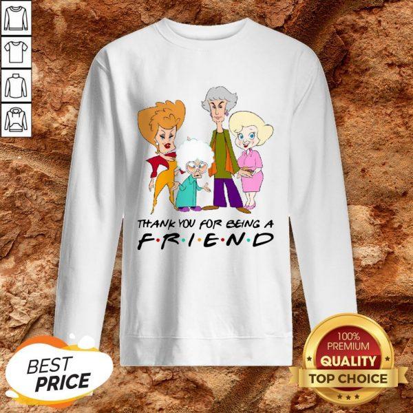 Golden Girl Thank You For Being A Friend Halloween Sweatshirt