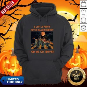 Halloween Horror Abbey Road A Little Party Never So We Go Boys Hoodie