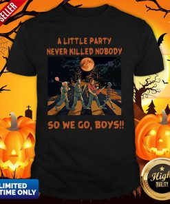 Halloween Horror Abbey Road A Little Party Never So We Go Boys Shirt