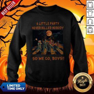 Halloween Horror Abbey Road A Little Party Never So We Go Boys Sweatshirt