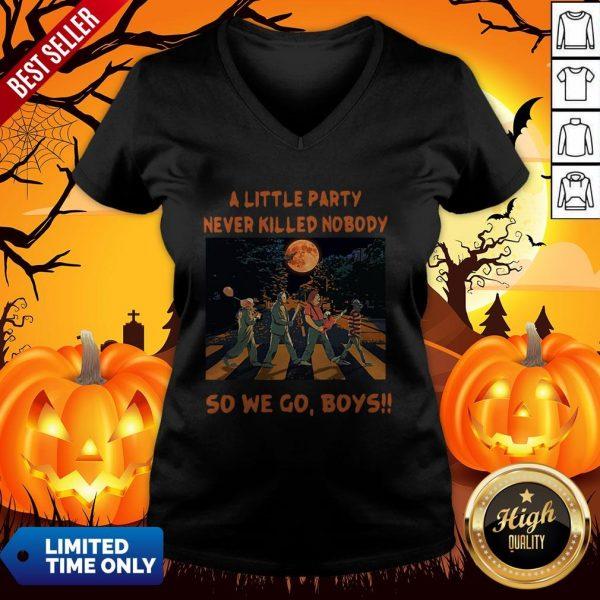 Halloween Horror Abbey Road A Little Party Never So We Go Boys V-neck