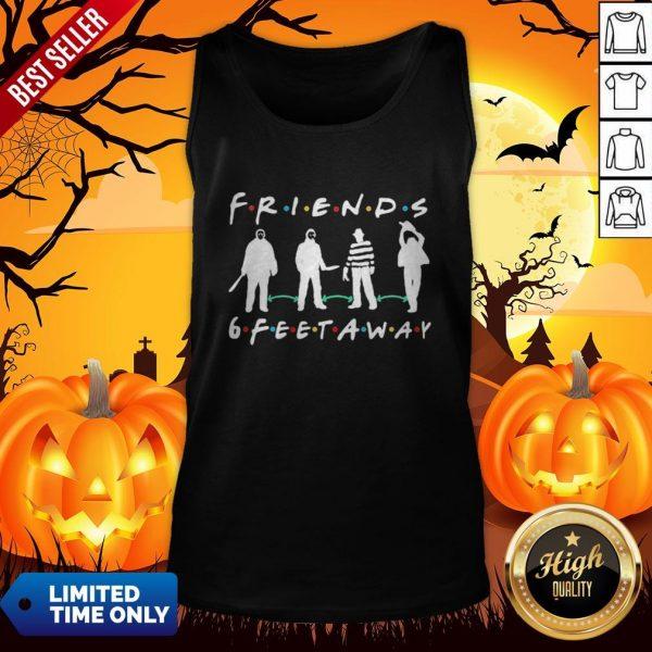 Halloween Horror Characters Mask Friends 6 Feet Away Tank Top