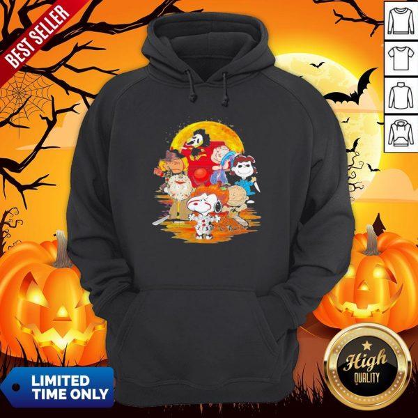Halloween Horror Characters The Peanuts Moon Hoodie
