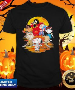 Halloween Horror Characters The Peanuts Moon ShirtHalloween Horror Characters The Peanuts Moon Shirt