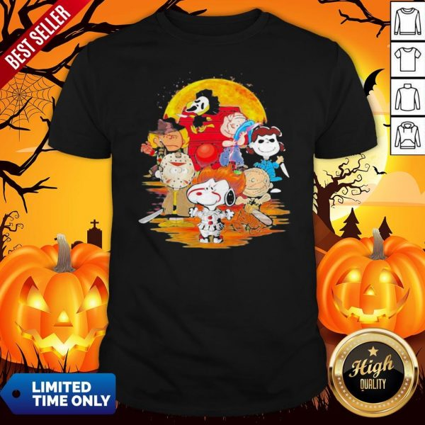 Halloween Horror Characters The Peanuts Moon ShirtHalloween Horror Characters The Peanuts Moon Shirt