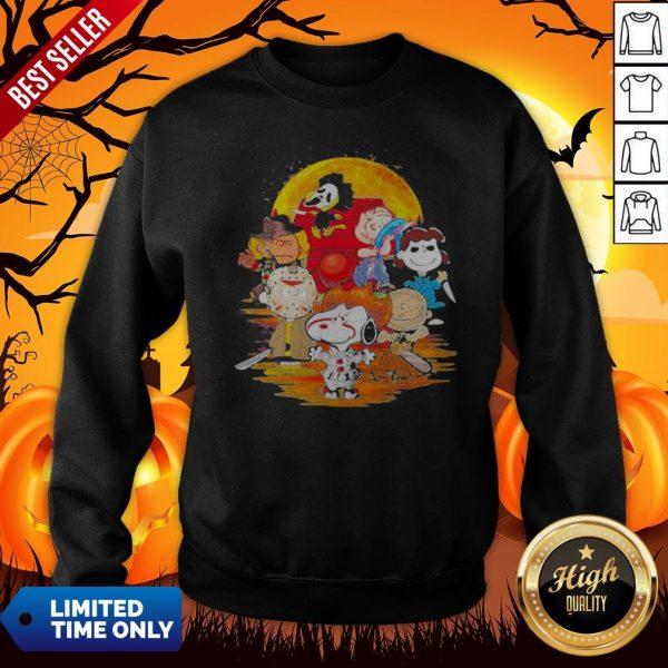 Halloween Horror Characters The Peanuts Moon Sweatshirt