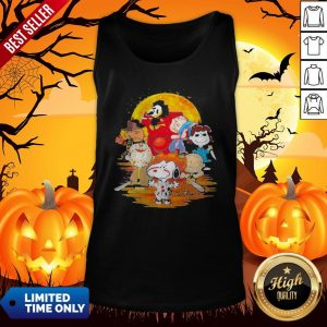 Halloween Horror Characters The Peanuts Moon Tank Top